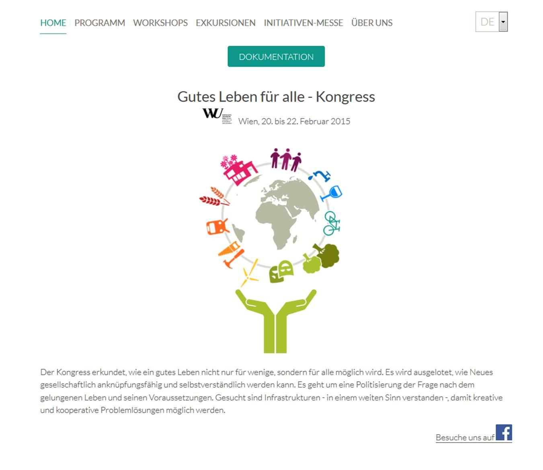 Gutes Leben für alle Kongress an der WU Wien